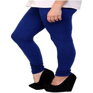 Visach Blue Cotton Lycra Leggings