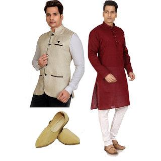 Trustedsnap Ethnic Wear Combo Set With Mojari