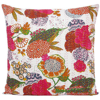 Kantha Handmade Cushion Cover(Design 7)