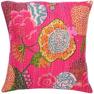 Kantha Handmade Cushion Cover(Design 9)