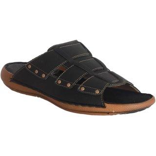 Lee Peeter Mens Black Slip on Sandals