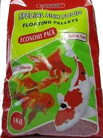 Taiyo Special Fish Food Floating Pellets Economy Pack Colour Enhancer 1kg Pouch / Aquarium Purpose