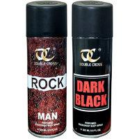 MTV Spray Double Cross Deodrants For Men(Rock+Dark Black) - 100ml (Set of 2)