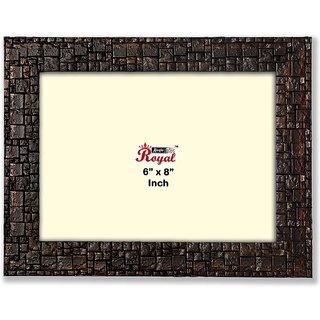 Ajanta Royal Classic 6 x 8 Photo Frame Insert (Brown Metalic)
