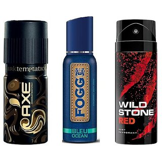AXE + FOGG + Wild Stone For Men (Set of 3)