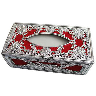 Skycandle TD-SL-001 Vehicle Tissue Dispenser (Silver And Red)