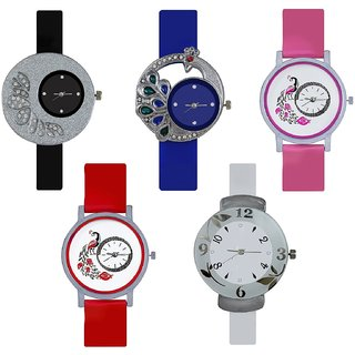 NEW BRAND WOMEN SET OF 5 COMBO ANALOG WATCH FOR  GIRLS .WOMEN ad