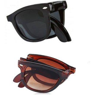593ca60fce81 Buy Fashno Black UV Protection Wayfarer Unisex Sunglasses Online - Get 70%  Off