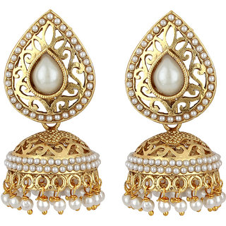 Angel In You Exclusive Golden White Earring Set / S 3267