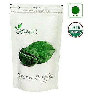 Perennial Lifesciences Organic Green Coffee Beans (Decaffeinated  & Unroasted) 500 Gms