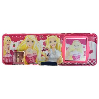 6th Dimensions Barbie Multipurpose Pencil Box with Calculator and Dual Sharpner