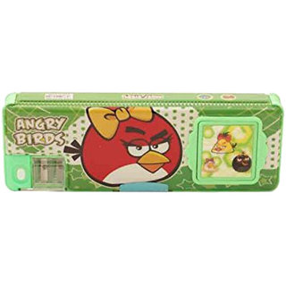 6th Dimensions Green Angry Birds Pencil Box with Calculator and Dual sharpener