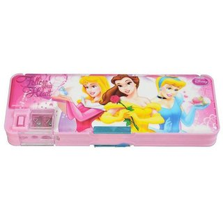 6th Dimensions Multicolour Both Side Magnetic Plastic Multi-Functional Pencil Box with Sharpener