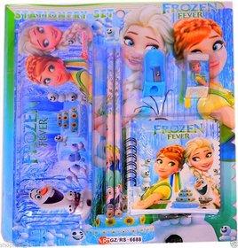 Frozen Stationary Multi Art Metal Pencil Boxes (Set of 1, Multicolor)