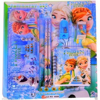 Frozen Stationary Multi Art Metal Pencil Boxes (Set of 1, Multicolor)