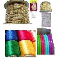 VLV Silk thread bangle and Jumka making material kit