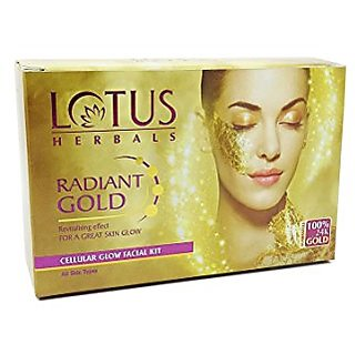 Lotus Herbal Radiant Gold Cellular Glow Facial Kit,37g