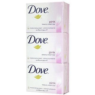 Dove (Imported) Pink Beauty Cream Bar Soaps of 135 Gm (Pack of 3)