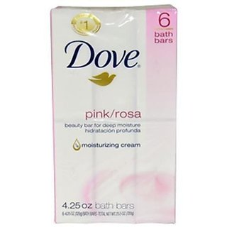 Dove (Imported) Pink Beauty Cream Bar Soaps of 135 Gm (Pack of 6)