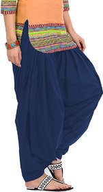 KRISO Beautiful Navy Blue Cotton Patiala Salwar