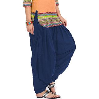KRISO Beautiful Navy Blue Cotton Patiala Salwar