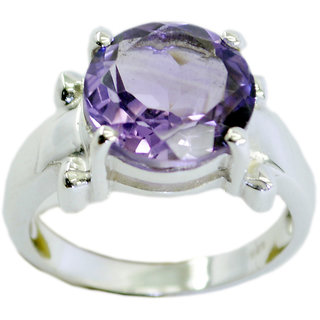 Amethyst 925 Sterling Silver Ring comely Purple jaipur Indian gift