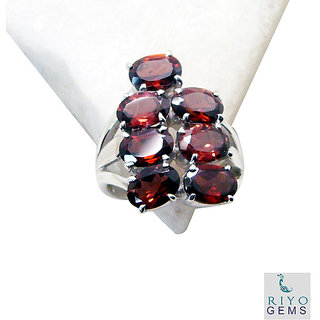 Garnet  925 Sterling Silver Ring tasty Red jaipur Indian gift