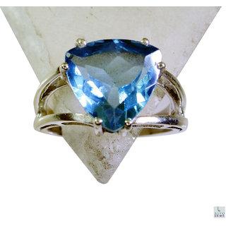 Blue Topaz 925 Sterling Silver Ring bonny Blue wholesales Indian gift