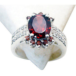 Garnet  925 Sterling Silver Ring pulchritudinous Red india  Indian gift