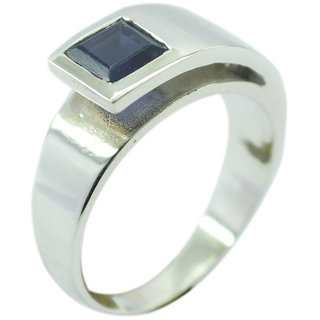 Iolite 925 Sterling Silver Ring taking Blue exporter Indian gift