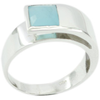 Chalcedony 925 Sterling Silver Ring nice Blue supply Indian gift