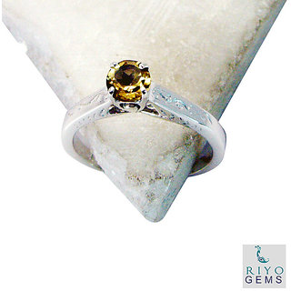 Citrine 925 Sterling Silver Ring appealing Yellow exporter Indian gift