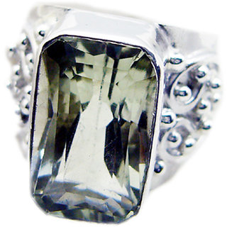 Green Amethyst 925 Sterling Silver Ring radiant Green supply Indian gift