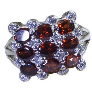Garnet  925 Sterling Silver Ring wonderful. Red wholesales Indian gift