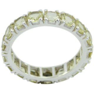 Lemon Quartz 925 Sterling Silver Ring tempting Yellow handmade  Indian gift