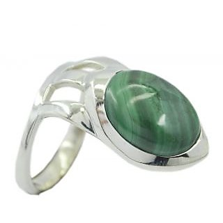 Malachite 925 Sterling Silver Ring well-favoured Multicolor jaipur Indian gift