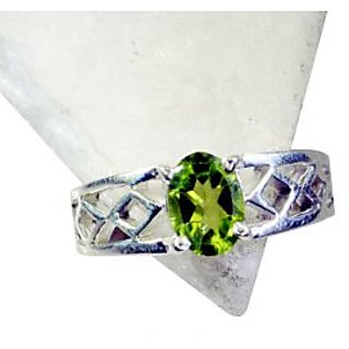 Peridot 925 Sterling Silver Ring  Green  Indian gift