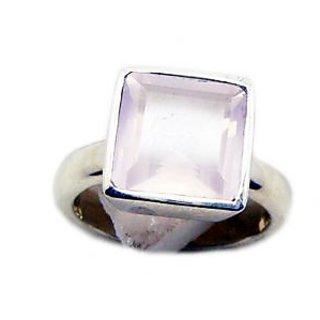 Rose Quartz 925 Sterling Silver Ring  Pink  Indian gift
