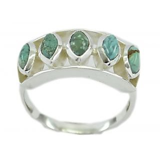 Turquoise 925 Sterling Silver Ring  Multicolor  Indian gift