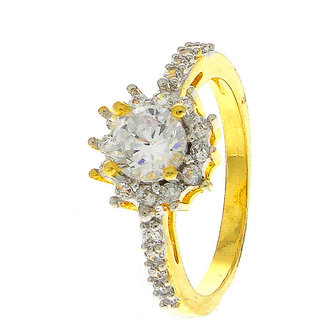 Anuradha Art White Colour Wonderful Classy Styled With American Diamonds Classy Finger Ring For Women/Girls