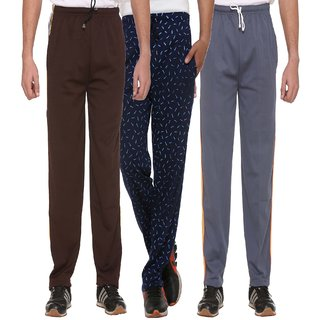 Vimal-Jonney Cotton Blended Multicolor Trackpants For Men (Pack Of3)