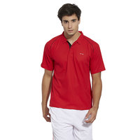 BONATY  Polyester With Moisture Management Polo Neck Half Sleeves Solid Sports T Shirt For Men