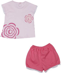 Knitted Top With Short - Pink ( 3-6 Month )