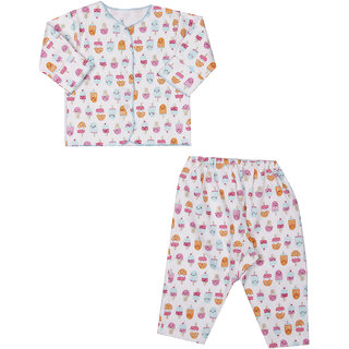 Ice Cream Print Night Suit ( 0-3 Month)