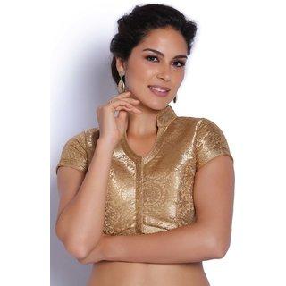 cbd740e08fd8e7 Buy Soch Golden Brocade Blouse Online   ₹1749 from ShopClues