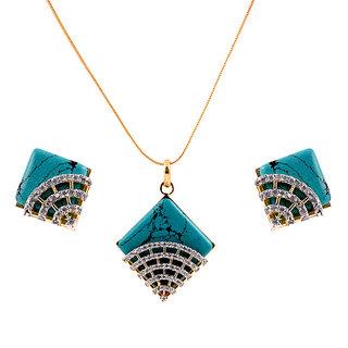 DLS Green Fashion Dangle & Drop Earrings  for Girls & Women By DLS-1050