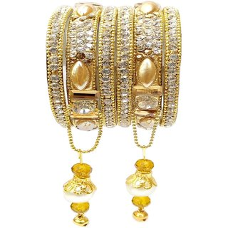 Esclavo Fashions Non Plated Gold Alloy Bangles for Women