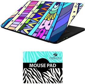 FineArts Combo of Abstract Art - LS5063 Laptop Skin and Mouse Pad