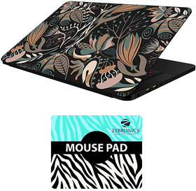 FineArts Combo of Floral - LS5650 Laptop Skin and Mouse Pad