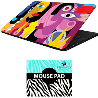 FineArts Combo of Abstract Art - LS5059 Laptop Skin and Mouse Pad